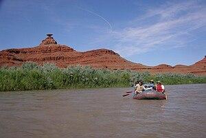 Montezuma Creek, Utah - Rafting the San Juan river.