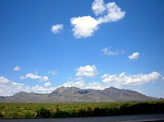 San Andres Mountains - Black and Bennett Mts. on the southeastern end of the San Andres Mountains