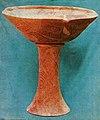 Sanctuarul neolitic de la Pianu de Jos - vas si suport cupa (Cultura Petresti).jpg