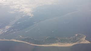 Sandy Hook - Image: Sandy Hook NJ aerial