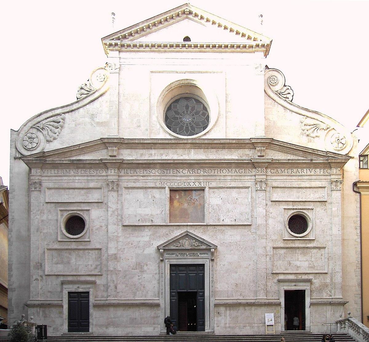 Basilique sant 39 agostino in campo marzio wikip dia for Architecture quattrocento