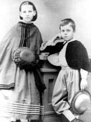 Sara Roosevelt - Sarah Delano and her brother, Phillipe in 1865 after returning from Hong Kong