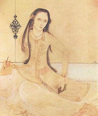 Zeb-un-Nissa - Painting of Zeb-un-Nissa by Abanindranath Tagore.