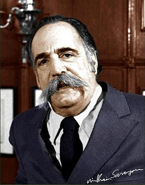 William Saroyan - Autographed portrait of Saroyan