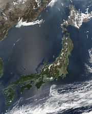 Japan from space, May 2003.