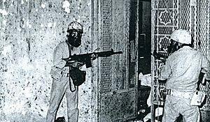 Grand Mosque seizure - Image: Saudi soldiers, Mecca, 1979