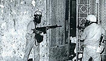 Soldats saoudiens, La Mecque, 1979.JPG