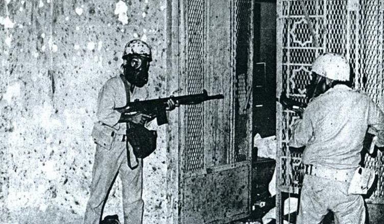 Saudi soldiers, Mecca, 1979