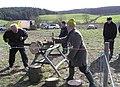Sawing logs, Garvaghy - geograph.org.uk - 1225016.jpg
