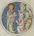 Sbs-0008 034r Johannes predigt einer Gruppe von Pharisäern.TIF