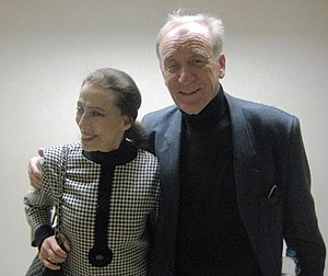 English: Rodion Shchedrin with Maya Plisetskay...
