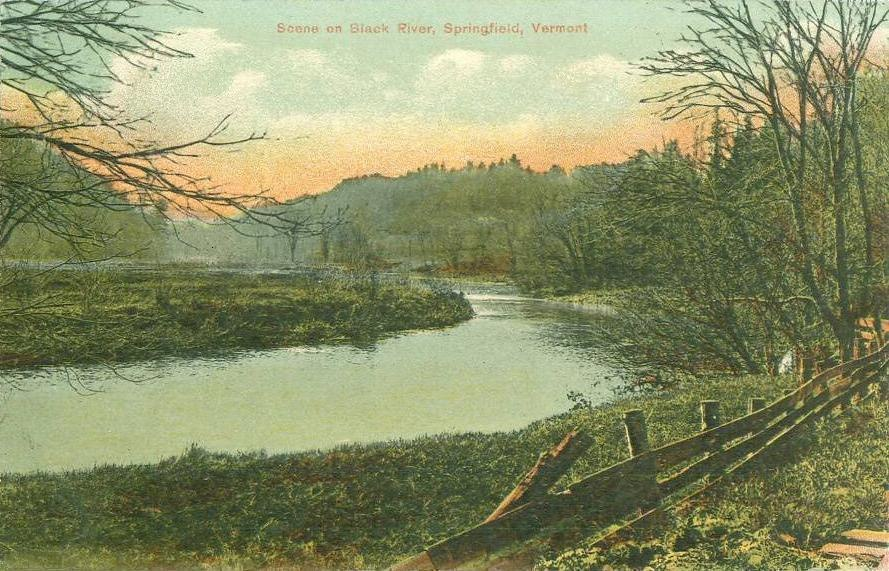 Scene on Black River, Springfield, VT