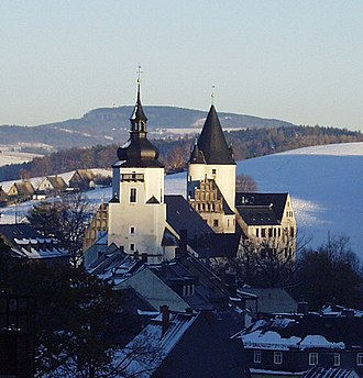 Schwarzenberg, Saxony - St.-Georgen-Kirche and Palace