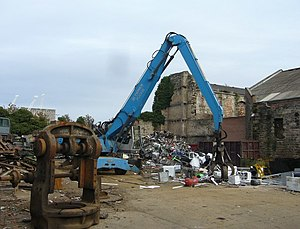 English: Scrap metal yard, Constitution Street...