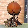 Sculpture Dickfigur Beteigeuze by Bernhard Luginbühl. Museum Jean Tinguely, , Basel - panoramio.jpg