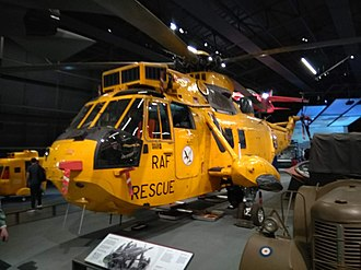 Prince William, Duke of Cambridge - Sea King helicopter flown by Prince William on display at the RAF Museum in London