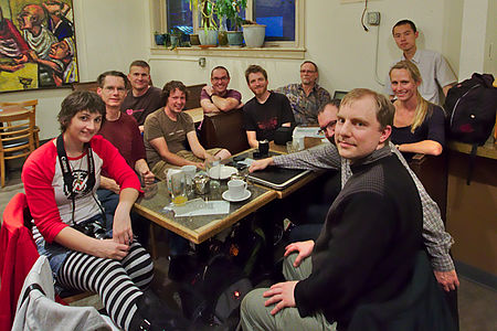 Seattle Wikipedia meetup at Café Allegro, 2014-10-15