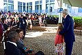 Secretary Kerry Poses for a Photo with Daughter of Embassy Employee at U.S. Embassy Nairobi (17159443537).jpg
