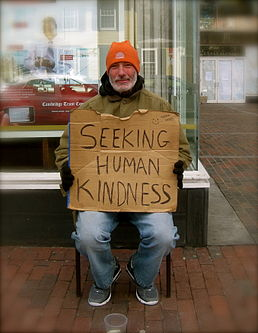 Seeking human kindness.JPG