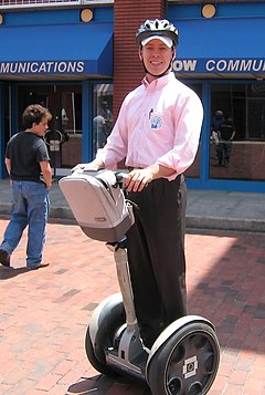 The Segway was unveiled in December 2001 Segway PT (2006)-02.jpg