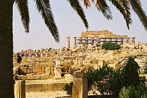 Temple C (Selinus) - The temple on its foundations