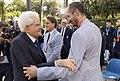 Sergio Mattarella meets Italy national football team and Matteo Berrettini (12 July 2021) 15.jpg