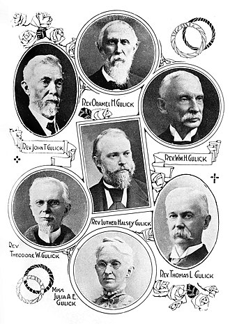 Peter Johnson Gulick - The seven surviving children all became missionaries