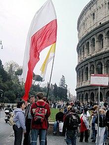Several hours after John Paul II's funeral.jpg