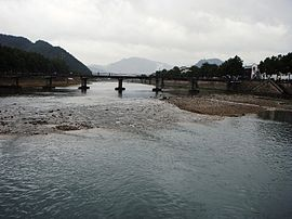 Shan River in front of Xiaoyangfang, Xikou.jpg