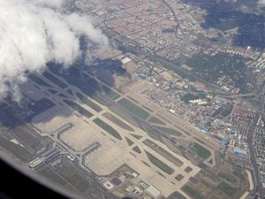 Shanghai Hongqiao International Airport - Aerial view of the airport