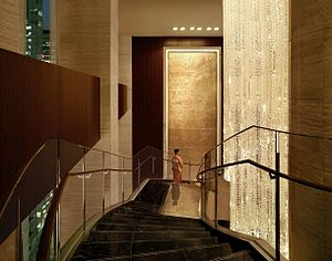 Shangri-La Hotel, Tokyo - The hotel's central stairway