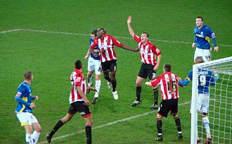 Cardiff City F.C. - Cardiff City playing against Sheffield United during the 2009–10 season