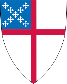 Shield of the US Episcopal Church, colors from...