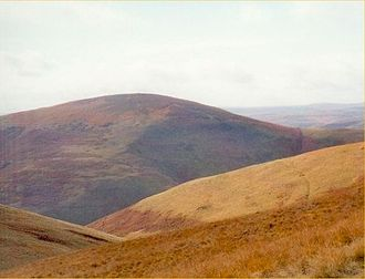 Shillhope Law - Shillhope Law from Saughy Hill to the east