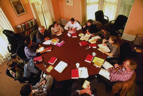 Shimer College class 1995 octagonal table