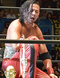IWGP Intercontinental Champion Nakamura im September 2015.