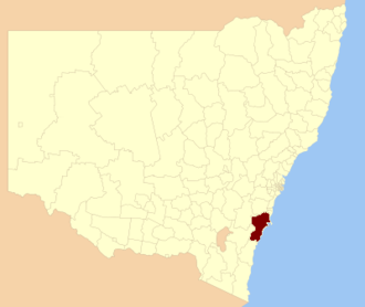 City of Shoalhaven - Location in NSW