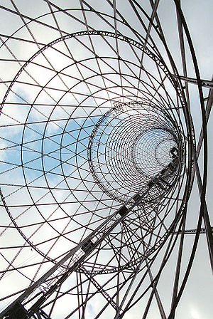 Hyperboloid structure - The gridshell of Shukhov Tower in Moscow.