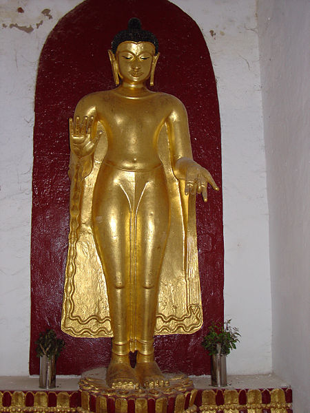 File:Shwezigon, Standing Buddha, Pagan 0208.jpg