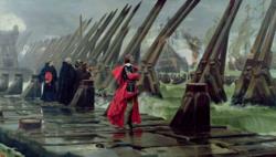 Siege of La Rochelle 1881 Henri Motte.png
