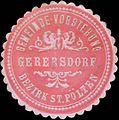 Siegelmarke Gemeinde-Vorstehung Gerersdorf Bezirk St. Pölten W0338669.jpg