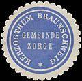 Siegelmarke Gemeinde Zorge H. Braunschweig W0387828.jpg