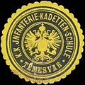 Siegelmarke K.K. Infanterie-Kadetten-Schule Temesvar W0351216.jpg