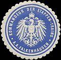 Siegelmarke K. Marine Kommandeur der Etappen-Trains A.A. Falkenhausen W0363944.jpg
