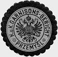 Siegelmarke K.u.K. Garnisons-Gericht Przemysl W0317178.jpg