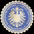 Siegelmarke Kaiserliche Universität - und Landes - Bibliothek - Strassburg i. E. W0204615.jpg