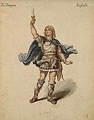 Siegfried (tenore), figurino di Carl Emil Doepler per Siegfried (1876) - Archivio Storico Ricordi ICON004001.jpg