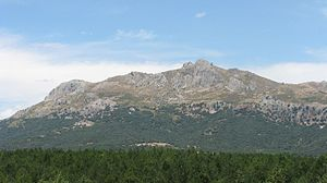 Sierra de Cogollos - View of the Sierra de Cogollos with its highest point, the Majalijar