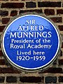 Sir Alfred Munnings President of the Royal Academy Lived here 1920-1959.jpg