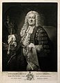 Sir William Browne. Mezzotint by J. Dixon after T. Hudson. Wellcome V0000829.jpg
